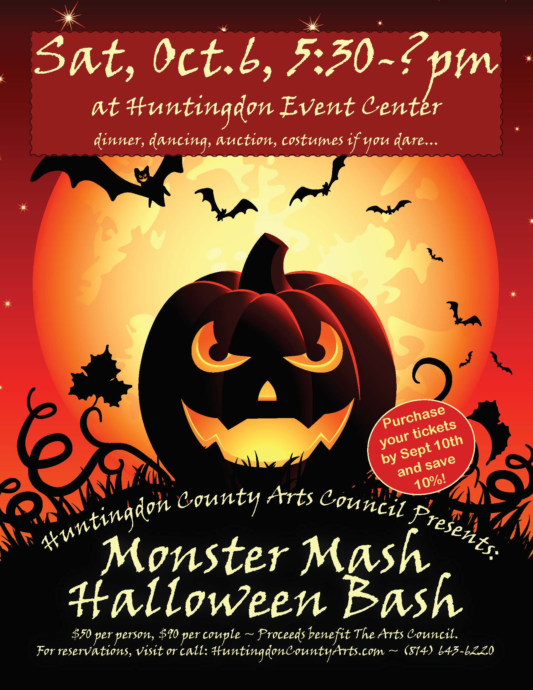 join us at the monster mash halloween bash, saturday, october 6